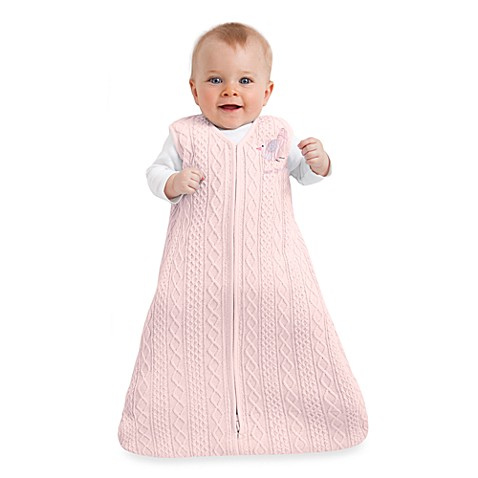 HALO® SleepSack® Small Cable Knit Wearable Blanket in Pink