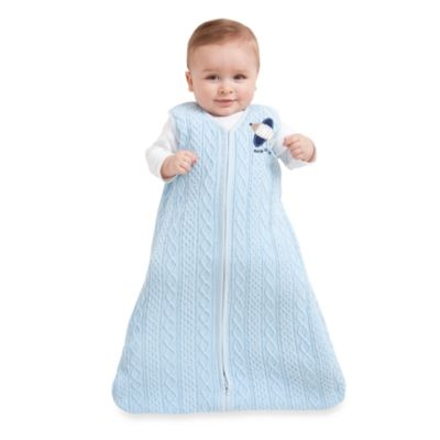 Halo SleepSack Cable Knit Wearable Blanket in Blue