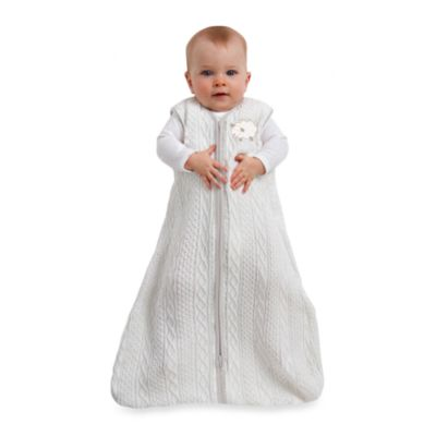 Halo SleepSack Cable Knit Wearable Blanket in Cream