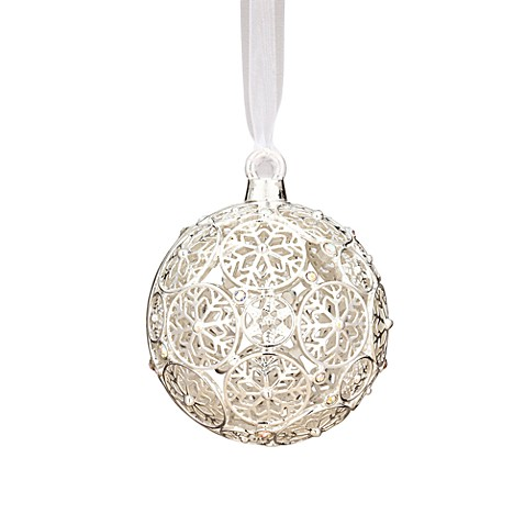 Reed & Barton®  Second Edition Crystal Snowflake Ball Ornament