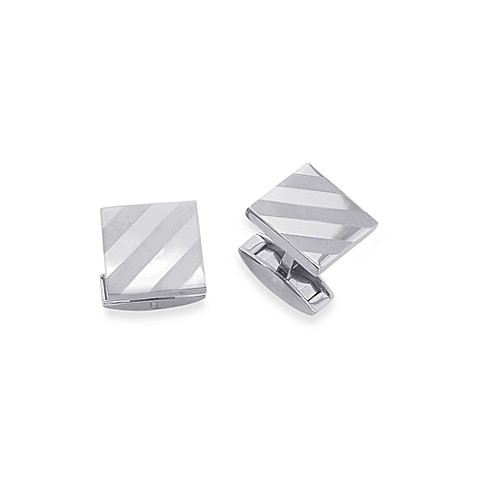 Men's Titanium Square Shape Cufflinks