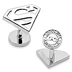 DC Comics Silver Superman Shield Cufflinks