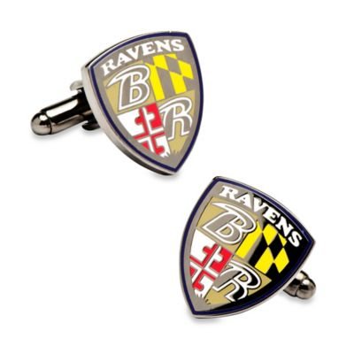 NFL Baltimore Ravens Shield Cufflinks