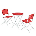 3-Piece Red Sling Bistro Set