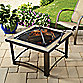 32-Inch Slate Firepit with Cover