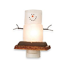 Lights in the Night™ Smore Snowman Night Light