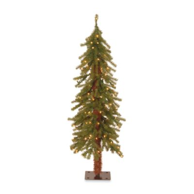 4-Foot Hickory Cedar Tree Pre-Lit with 100 Clear Lights
