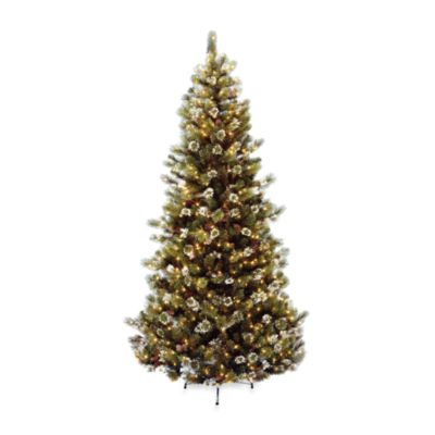 7 1/2-Foot Glittery Bristle Pine Tree Pre-Lit with 500 Clear Lights
