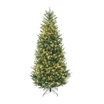 National Tree 7-1/2-Foot Natural Fraser Slim Fir Tree Pre-lit with 600 Clear Lights