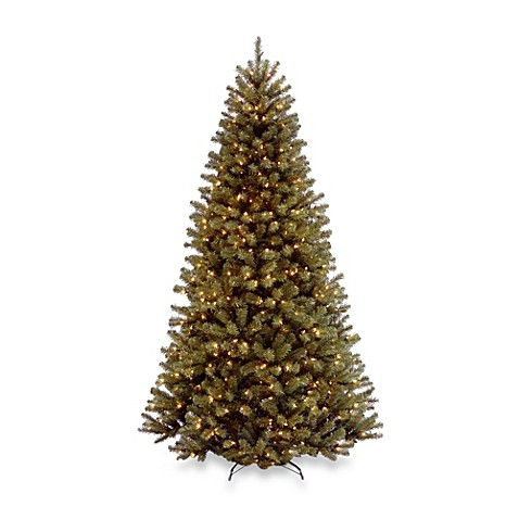 National Tree 7 1/2-Foot North Valley Spruce Hinged Tree Pre-Lit with 550 Color Changing LED Lights