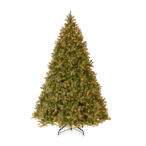 National Tree Feel-Real® Down Swept 9-Foot Pre-Lit Douglas Fir Christmas Tree with Clear Lights