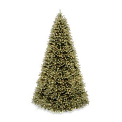 National Tree Feel-Real® Down Swept 12-Foot Pre-Lit Douglas Fir Tree