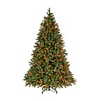 Feel-Real® 7 1/2-Foot Downswept Pre-Lit Douglas Fir Hinged Tree with 750 Colored Lights