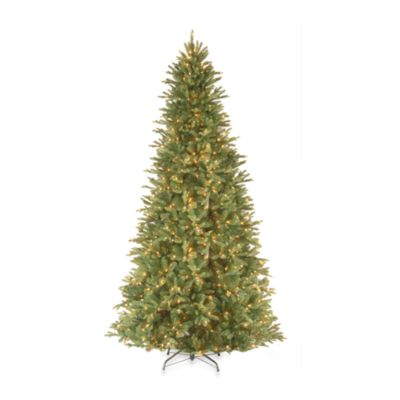 National Tree Feel-Real® Tiffany Fir 9-Foot Pre-Lit Slim Hinged Tree