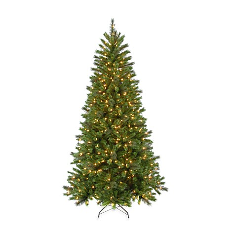 7 Foot Spring Lake Pine Pre-Lit Tree with 400 Clear Lights