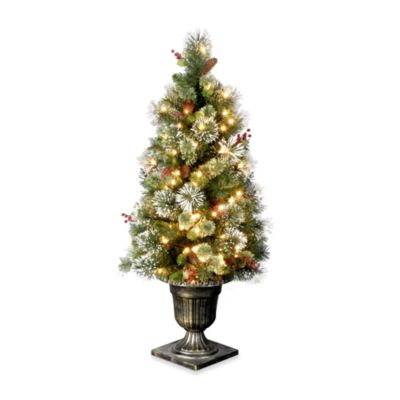 4-Foot Wintry Pine Entrance Tree Pre-Lit with 50 Clear Lights