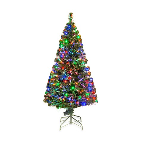 National Tree 5-Foot Fiber Optic Evergreen Christmas Tree Pre-Lit with 150 Multicolored Lights