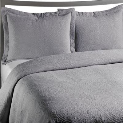 VUE™ Royal Medallion Matelasse Coverlet in Grey