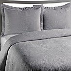 VUE™ Royal Medallion Matelasse Grey Coverlet, 100% Cotton