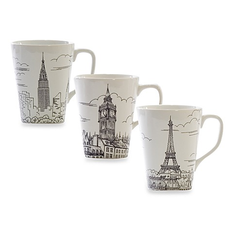 222 Fifth Big City 14-Ounce Mugs