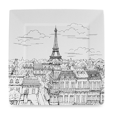 Eiffel Tower Square Dinner Plate Bed Bath Beyond