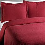 Vue™ Royal Medallion Matelasse Burgundy King Pillow Sham