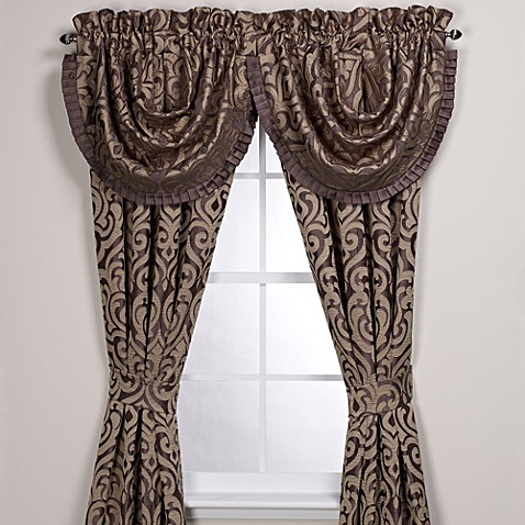 J. Queen New York™ Luxembourg Waterfall Window Valance in Mink