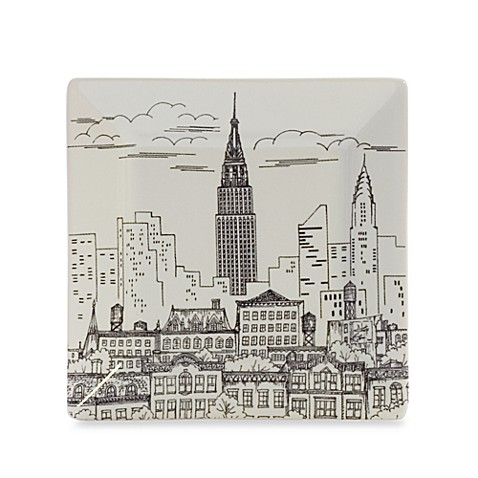 Empire State Building Appetizer Plate
