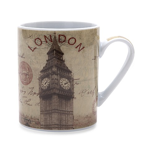 Passport London 14-Ounce Porcelain Mug