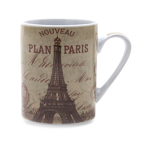 Passport Paris 14-Ounce Porcelain Mug