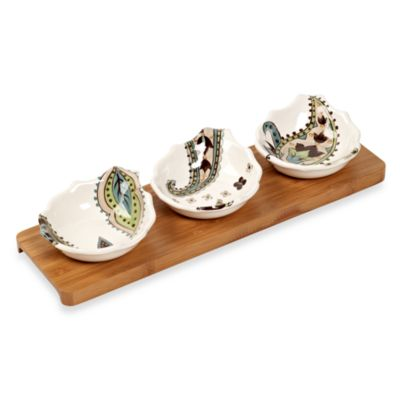 Tabletops Unlimited® Misto Angela 4-Piece Condiment Set with Bamboo Tray