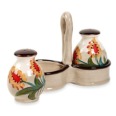 Tabletops Unlimited® Misto Odessa Salt and Pepper Shaker Set with Caddy