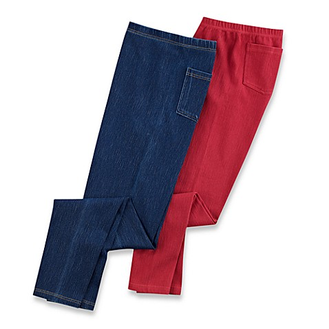 Capelli® Denim Stretch Leggings with Back Pockets