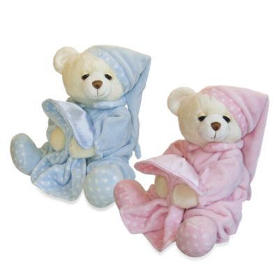 Aurora® 10-Inch Dreamy Baby Girl Musical Bear in Pink