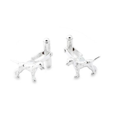 Sterling Silver Dog Cufflinks