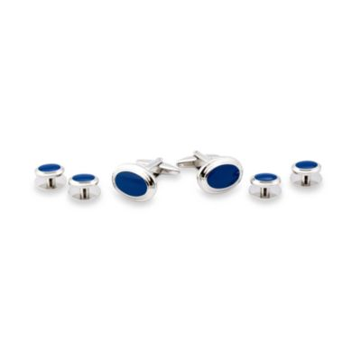 Blue Formal Tuxedo Cufflinks Set