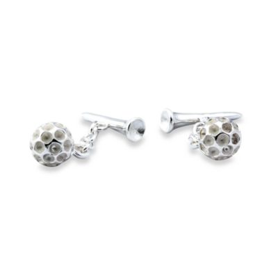 Sterling Silver Golf Cufflinks