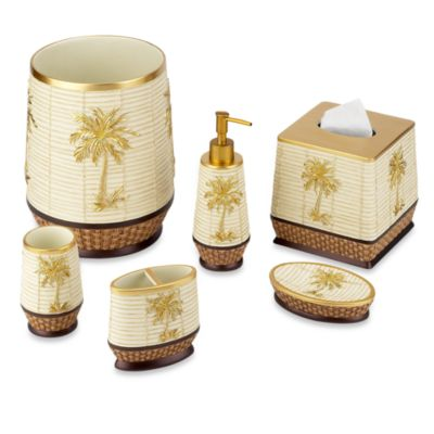 Avanti Oasis Palm Boutique Tissue Holder