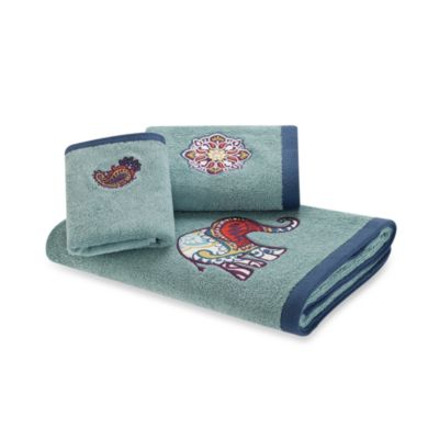 Tamil Bath Towel in 12-Inch x 18-Inch