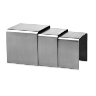 Zuo® Aura Stainless Steel Nesting Table (Set of 3)