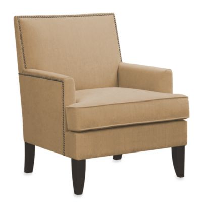 Colton Chair with Individual Nailhead Trim in Sand