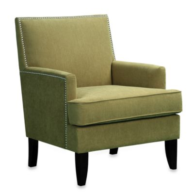 Colton Chair with Individual Nailhead Trim in Green