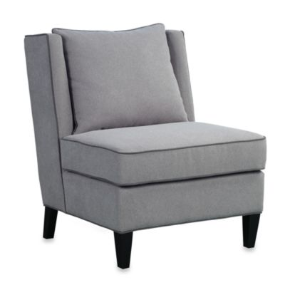 Dexter Chair in Grey with Contrasted Welt