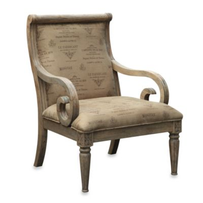 Fulton Chair with French Script and Reclaimed Wood Finish