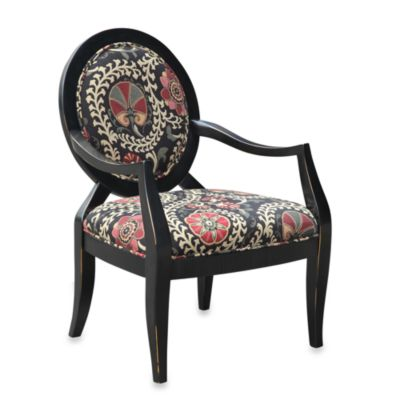 Malibu Accent Chair in Safar in a Ebony