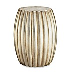 Madison Park Silver Leaf Accent Drum Table
