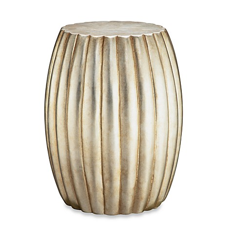 Buy Madison Park Silver Leaf Accent Drum Table From Bed Bath Beyond