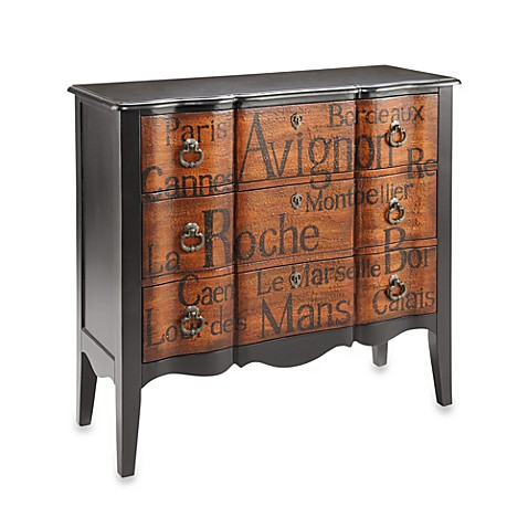 La Beau D Art 3-Drawer Accent Chest