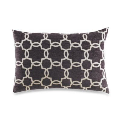 Linked Tile Grey Toss Pillow
