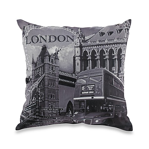 London Black/White Throw Pillow